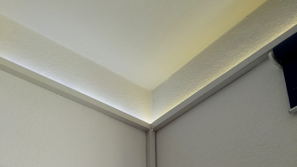 LEDs on cable ducts - cheap yet elegant way to add smart lighting leds to your room
