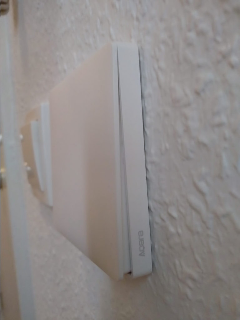 a single button Aqara Zigbee smart switch