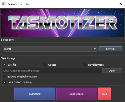 uploading the wled custom animation via Tasmotizer