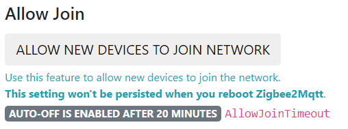 allow new devices to join the network