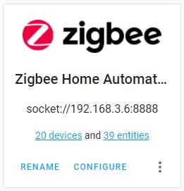 Zigbee Home Assistant / ZHA integration